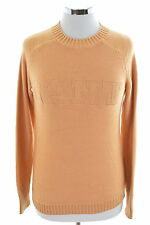 Gant Womens Jumper Sweater Size 6 XS Brown Cotton Wool