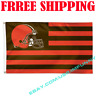 Deluxe Cleveland Browns USA Stars Stripes Flag Banner 3x5 ft NFL 2019 Fan Gift