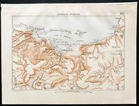 1880 - Landkarte Antik des Stark von Cherbourg