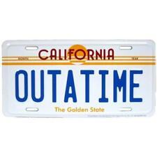 Back to the Future OUTATIME Novelty Auto Tag Car Metal Automobile License Plate