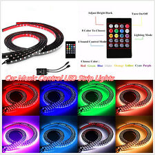 4 Pcs 12V Car Rgb Led Music Control Led Strip Light Underglow Decor Lamps&Remote (Fi ts: Scorpion)