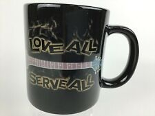 Hard Rock Cafe New York Love All Serve All Let's Rock Guitar Coffee Tea Mug Cup