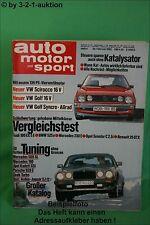 AMS Auto Motor Sport 4/85 * Renault Espace TSE Arden Jaguar XJ 12 Golf 16V