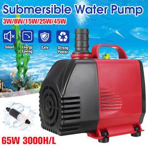220-3000L/H Submersible Water Pump Fish Pond Aquarium Tank Fountain Sump  e