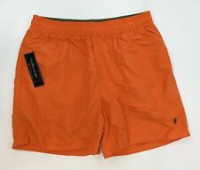 Polo By Ralph Lauren Swimwear Beach Shorts in Orange Men's Size Medium NEW