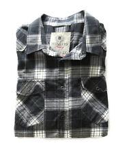 Henleys Luxury Mens Black White Chequered Long Sleeve Shirt Size XXL
