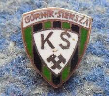 GORNIK SIERSZA POLAND FUSSBALL FOOTBALL SOCCER 1980's SMALL SILVER PIN BADGE