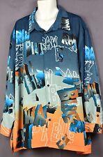 Raw Blue Men's Shirt  Rugged Gear Long Sleeve SIZE 3XL