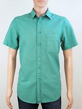 Topman mens size medium green short sleeve shirt