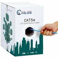 1000ft Bulk Cat5e Plenum Cmp Cable 350Mhz Utp 24Awg Ethernet Lan Network Blue