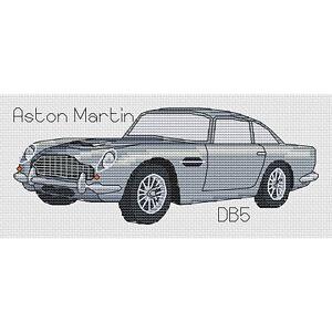Aston Martin DB5 Cross Stitch Design (kit or chart)