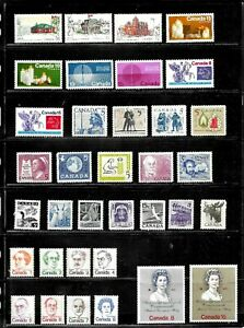 HICK GIRL- MINT (MIXED CONDITION) CANADA STAMP ASSORTMENT   PAGE FULL   E1071