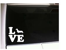 "Dachshund Love Vinyl Car Decal 6"" *P93 Dog Pet Sticker Rescue Weiner Hot Dog"