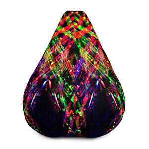 Gamer neon Bean Bag hippy psychedelic  High Back Gaming  Garden Indoor Beanbag