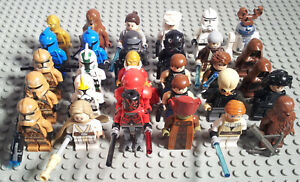 Lego Star Wars Figuren Auswahl Jedi Trooper Droid Sith m Waffen Zubehör Blaster
