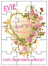 Personalised Child's Wooden Jigsaw Puzzle Will you be our Flower Girl? Page Boy