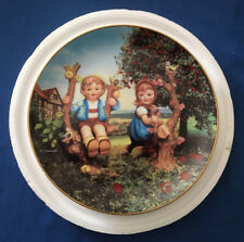 """""""Apple Tree Boy And Girl � M J Hummell Collector Plate Danbury Mint"""