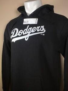NEW Los Angeles LA Dodgers Team Pullover Hoodie Sweatshirt - Black - LARGE NWT