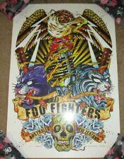 Foo Fighters concert tour poster print Australia New Zealand 2008 rhys cooper