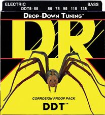 DR DDT5-55 BASS Guitar Strings (55-135) 5-string heavy gauge