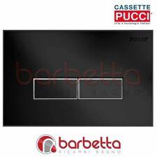 PLACCA CASSETTA PUCCI ECO SLIM A PARETE NERO DUE PULSANTI 80170581