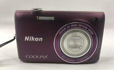 Nikon COOLPIX S4100 14.0MP TouchScreen Digital Camera Plum