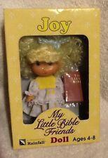 My Little Bible Friends Doll Joy & Small Bible - Rare Rainfall Toy 1993 Vintage