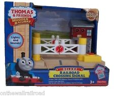 DELUXE RAILROAD CROSSING Thomas Wooden Railway signal gates NEW IN BOX