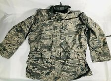 All Purpose Environmental Camouflage Gore Seam Tex Roll Up Hood Parka Jacket L