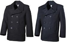 MFH Cappotto Giacca uomo classico marina militare Stati Uniti US Pea Coat  09015