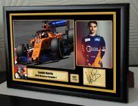 "Lando Norris McLaren 2019 F1  Framed Canvas Signed Print ""Great Gift"""