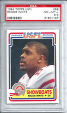 1984 Topps USFL Football #58 Reggie White Rookie Card PSA 8.5 '84