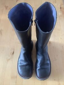 CAMPER Brothers Sisters Black Nubuck Leather Gum Sole ZIp Boot Womens 39