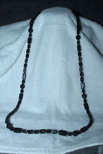"Gorgeous Bead Bohemian Black Glass Crystal 38"" Necklace ~"