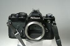 New ListingNikon Fm Black 35mm Slr Film Camera (Body Only)w/ Strap + cap
