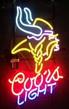 "New Coors Minnesota Vikings Neon Light Sign 32""x24"" Beer Cave Gift Lamp Bar"