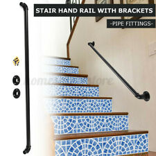 Stair Guard Handrail Banister Brackets Industrial Pipe Wall Mount Rack
