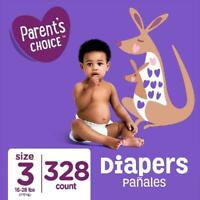 Diapers Parent'S Choice , Size 3, 328 Diapers (Mega Box)