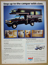 1987 Four Seasons Truck Camper Ford F250 Pickup photo vintage print Ad