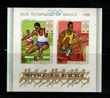 BURUNDI STAMPS scott C92a 1968 OLYMPIC IMPERF SHEET 276 1219
