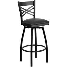 Flash Furniture Metal Restaurant Bar Stool, Black - XU-6F8B-XSWVL-BLKV-GG
