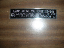 AARON JUDGE (YANKEES) NAMEPLATE FOR SIGNED BALL CASE/JERSEY CASE/PHOTO