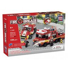 Fire Engine and Road Car BricTek Building Block Construction Toy Brick Bric Tek