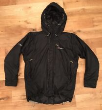 Berghaus Mens Extrem Primaloft Insulated Hooded Black Parka Jacket Coat Size XL