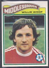 TOPPS-FOOTBALL (ORANGE BACK 1978)-#354- MIDDLESBROUGH - WILLIAM WOOF