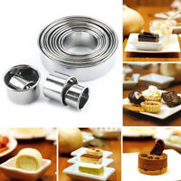 14 Circle Round Cookie Biscuit Cutter Cake Pastry Donut Cutter Baking Metal Mold