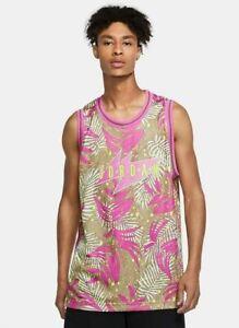 Mens Nike Air Jordan Wings South Beach Floral Jersey Pink CJ4314 Size M NWT