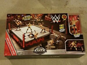 WWE Elite Authentic Scale WrestleMania Raw Main Event Ring Playset * Goldberg