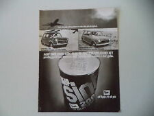 advertising Pubblicità 1973 AGIP SINT 2000 e MINI 1000