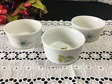 "Set of 3 Georges Briard ""Botanica"" Custard Cups / Ramekins 4"""